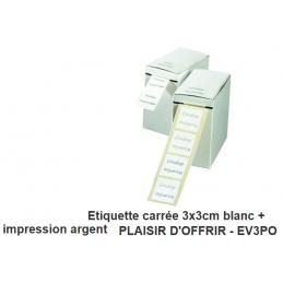 ETIQUETTE 3x3 PLAISIR...